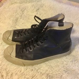 Converse High Tops, Navy Water Repellant